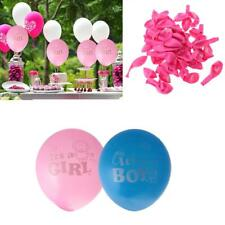 "Lot of 100pcs 12"" Its A Boy Girl Latex Balloons Baby Shower Birthday Party Decor"