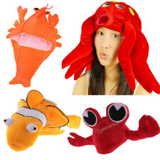 Octopus Lobster Crab Clownfish Costume Kids Adults Hat Mask Cap Fancy Party Gift