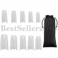 500pcs French False UV Gel Artificial Half False Nails Nail Art Tips Kit