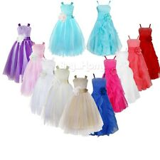 Princess Kid Flower Girl Dress Pageant Wedding Birthday Party Bridesmaid Dress