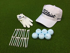 Be Ready Titleist Premium Golf Box - Hat Glove 1/2 Dozen ProV1/x Balls 36 Tees