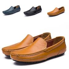 New Men Boat Shoes Leather Slip On Driving Moccasin Chic Casual Flats Loafers YY