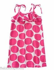 NWT GYMBOREE DAISY PARK BIG PINK POLKA DOTS RUFFLE KNIT DRESS 4,7,8 Girls
