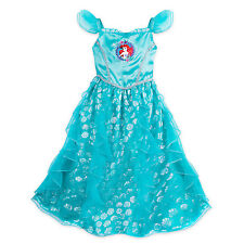 NWT Disney Store Princess Ariel Nightgown Costume Little Mermaid Girls many size