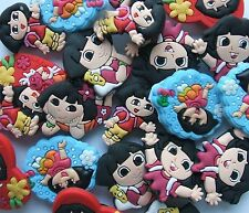 SHOE CHARMS (W2) - inspired by DORA THE EXPLORER