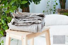 Pure Linen Pre Washed Flat Sheet SEAMLES 100% linen  White or Oatmeal Bedding