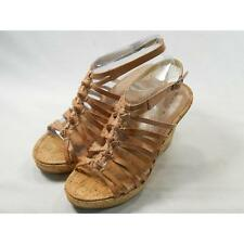 Marc Fisher Carnie Light Brown Leather Womens Wedge 10M