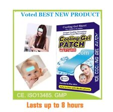 FEVER Cooling Gel Sheets Kids/Adults Immediate Cooling Relief from Fever LTDSALE