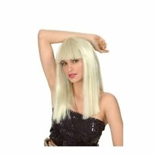 Glamourama Straight Blonde Long New Fancy Accessory Fringe Wig Straight Smiffys
