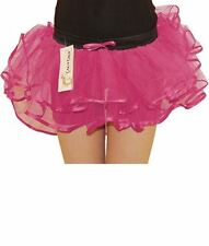 Skirt Tutu Burlesque Frilly Girls 3 Layers Pink Rave Net Moulin Rouge Hen Night
