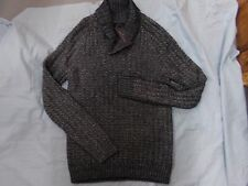 Mens Marc Anthony Gray Cable Knit Winter Lodge Sweater Cowlneck NEW MSRP $85