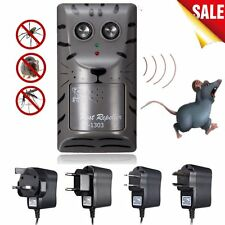 Electronic Ultrasonic Pest Control Repeller Rat Mosquito Mouse Insect Rodent LO