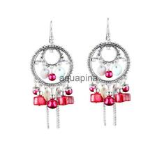 New Hot Vintage Resin Hook Hollow Charm Drop Dangle Double Circles Earrings