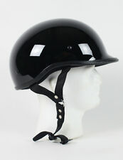 D.O.T POLO GLOSS BLACK MOTORCYCLE HELMET HALF HELMET BEANIE HELMETS SHORTY