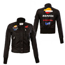 GAS HONDA REPSOL LADIES JADIN JACKET BLACK MOTOGP SIZES S L XL
