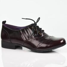 Hotter Somerley Womens Red Black Shiny Leather Shoes
