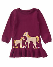 NWT Gymboree PLUM PONY Cranberry Pony Sweater Dress 6 12 18 24M 2t 3T Girls