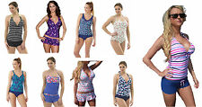 LADIES TANKINI BIKINI SWIMWEAR SHORTS BRIEFS CUPPED BANDEAU HALTERNECK D DD CUPS