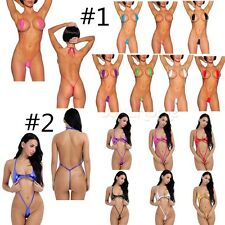 Women's Monokini One-Piece Swimsuit Beach G-String Bikini Micro Thong Bodysuit