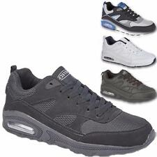 New Mens Lace Up Sports Running Casual Fitness Air Gym Trainers Shoes Sizes 7-12