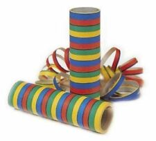 Blue Red Yellow and Green Serpentine Party Streamers Throws 18 Per Roll 4m Paper