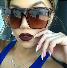 Oversized Large Aviator Sunglasses Huge Flat Top Style Vintage Fashion Square