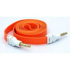 For VERIZON PHONES - ORANGE FLAT AUX CABLE CAR STEREO WIRE AUDIO SPEAKER CORD