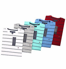 Tommy Hilfiger Men's Short Sleeve Crew-Neck Stripe Tee T-Shirt - $0 Free Ship