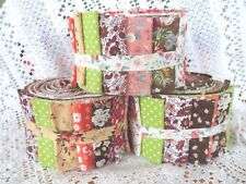 Patchwork Quilting Kit Jam Jelly Rolls AUTUMN COLOURS Brown Green Orange *New*