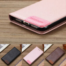 Luxury Leather Magnetic Wallet Purse Flip Stand Case Cover For Samsung iPhone