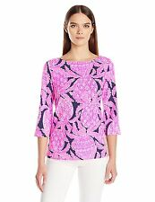 NWT Lilly Pulitzer Waverly Top 24285 Bright Navy Coco Safari Sz XS  $68