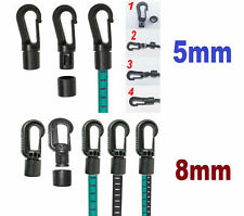 Easy Quick Self fit plastic hooks bungee elastic shock cord Rope for 5mm/8mm New