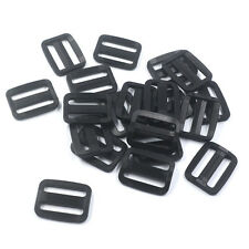 Black small Plastic Triglides Webbing Strapping Slides for 25mm Webbing 20-Pack