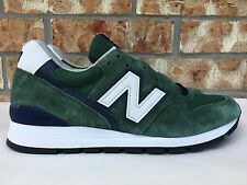 Men's New Balance 996 Heritage MADE IN USA Green Navy White Size 7-9 M996CSL