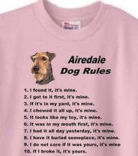 Big Dog T Shirt - Airedale Dog Rules Women Men Adopt Rescue Animal Cat Family #9