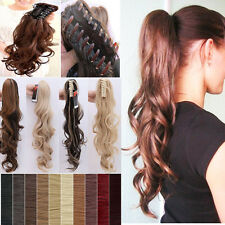 "18""-26"" High Ponytail Easy Claw Clip on in Ponytail Hair Extensions Blonde E23"