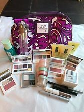 CLINIQUE MILLY BAG LARGE ASST.OF 21 ITEMS-EYESHADOWS,SKINCARE,MASCARA,EYE BROWS,