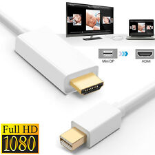 [Gold Plated]6FT Mini Display Thunderbolt to HDMI Cable Adapter Cord Wire- White