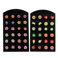 12 Pairs Wholesale Fruit Flower Jewellery Assorted Polymer Clay Ear Stud Earring