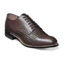 Stacy Adams Madison cap toe oxford diamond print leather Brown shoes 00082-200
