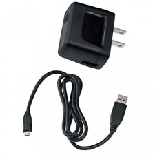 OEM 2-IN-1 HOME WALL TRAVEL AC CHARGER USB ADAPTER CABLE BLACK for SMARTPHONES