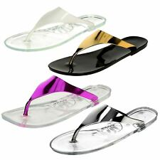 Spot On Ladies Jelly Toepost Sandals