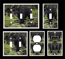 BLACK BEAR IN THE WOODS  # 3  LIGHT SWITCH COVER PLATE   PLASTIC COVER