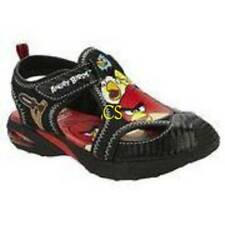 NWT-Toddler Boys Angry Birds Black & Red Summer Closed Toe Sandals Shoes- sz 6