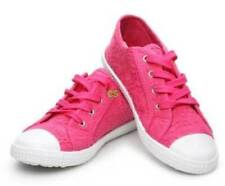 NWT-Kids Girls Capelli New York Pink Eyelet Canvas Sneakers Shoes-sz 1, 2, 3 & 4