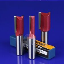 """Extra Long 1/2"""" 1/4"""" Inch Straight Metric Router Cutter Bits TCT Twin Fluted"""