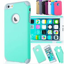 Shockproof Rugged Hybrid Rubber Hard Cover Case For Apple iPhone 6 6s Plus 5 5s