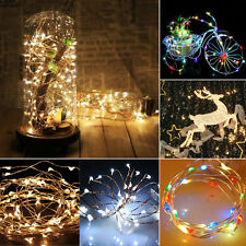 20/30/40 LED Copper Wire Battery Power Operated Party Xmas Fairy String Lights