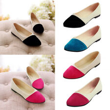Women Pointed Toe Flats Suede Ballet Shoes Loafers Ladies Casual Single Shoes