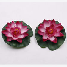 Artificial Lotus Water Lily Floating Flower Pond Tank Plant Ornament Home Decor